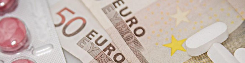 Medicamentos sobre billetes de 50 euros