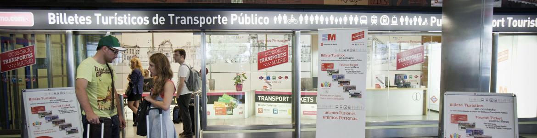 Oficina de venta del Billete Turístico situada en el Aeropuerto