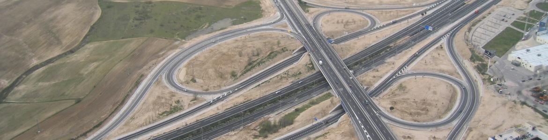 imagen con varias carreteras y los enlaces entre las mismas