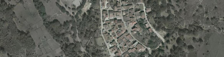 Vista aérea de Puebla de la Sierra