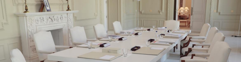 Sala donde se celebra el Consejo de Gobierno vacía