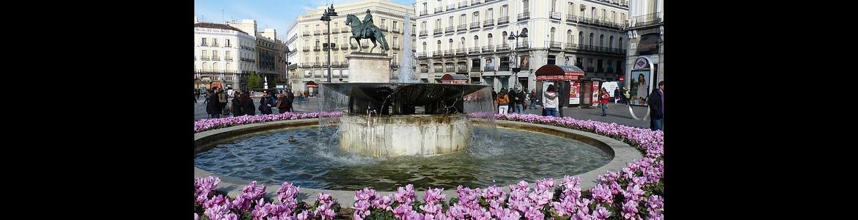 Imagen panorámica zona Sol de Madrid