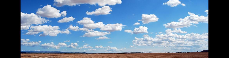 Cielo claro en zona rural
