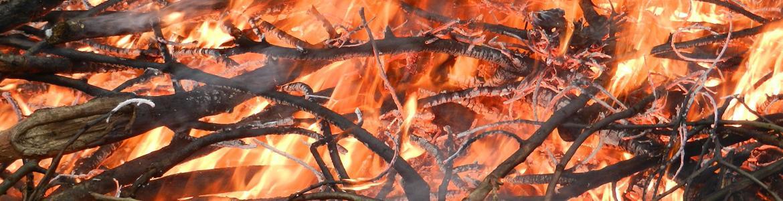 Imagen de quema de rastrojos