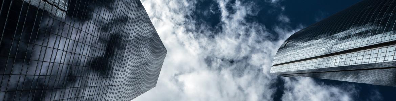 Torres de Madrid con nubes