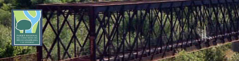 Puente de hierro sobre el río Guadarrama