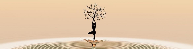 Silueta mujer árbol
