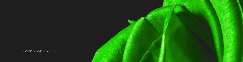 Parte de una rosa de color verde