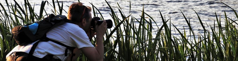Fotografiando el agua de un lago