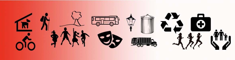 símbolos servicios que prestan Mancomunidades