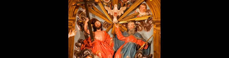 Retablo mayor de la iglesia del convento de Trinitarias Descalzas de San Ildefonso