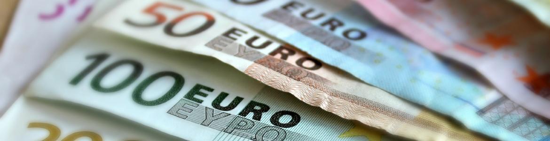 Billetes de euro de varios importes