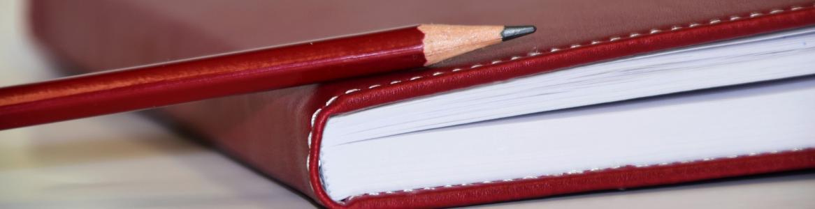Imagen de un lapicero sobre una agenda