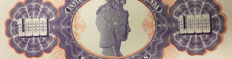 Papel de Fianzas del Estado de 1000 pesetas emitidos en 1940