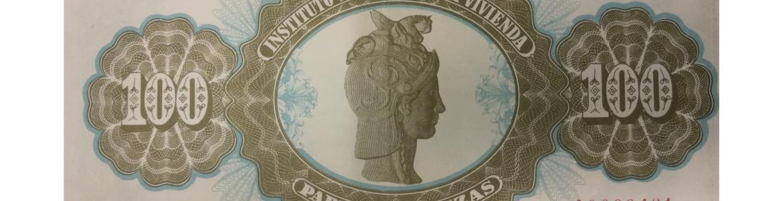 Papel de Fianzas del Estado de 100 pesetas emitidos en 1940