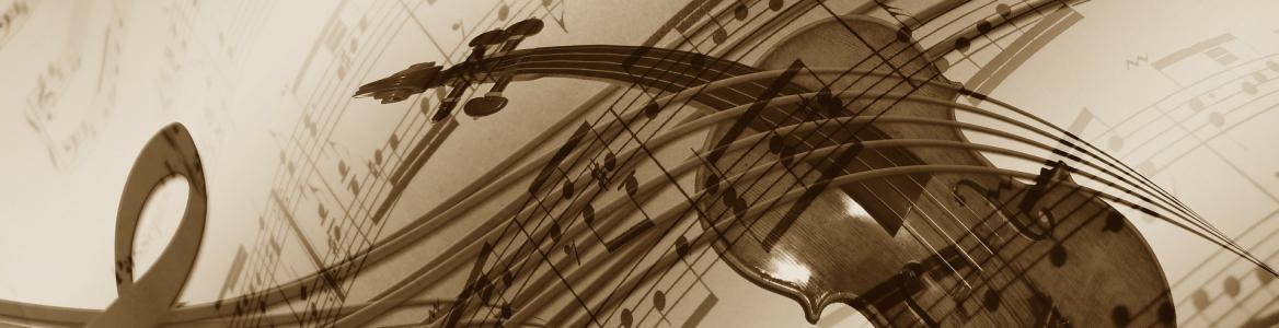 Partitura y violín