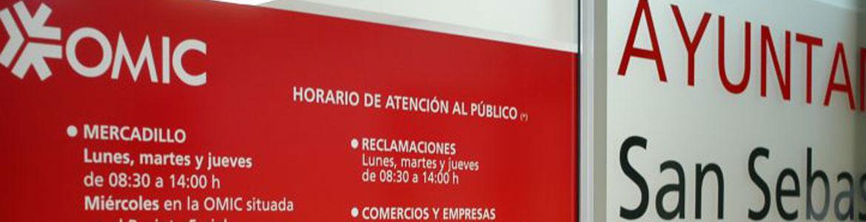 Cartel informativo de Oficina Municipal de Información al Consumidor