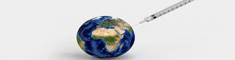 jeringa pinchando La Tierra