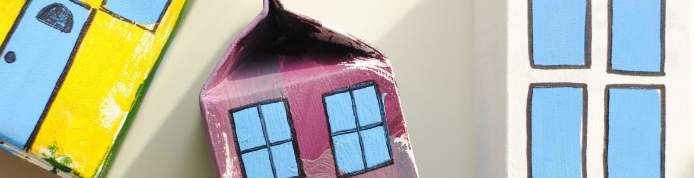Imagen de unos bricks pintados