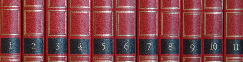 Tomos rojos numerados