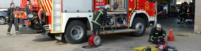 Camión de bomberos de la Comunidad de Madrid