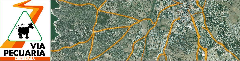 Captura de imagen de vías pecuarias en el visor de cartografía ambiental