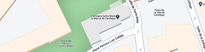 Iglesia Santa María la Blanca en Canillejas