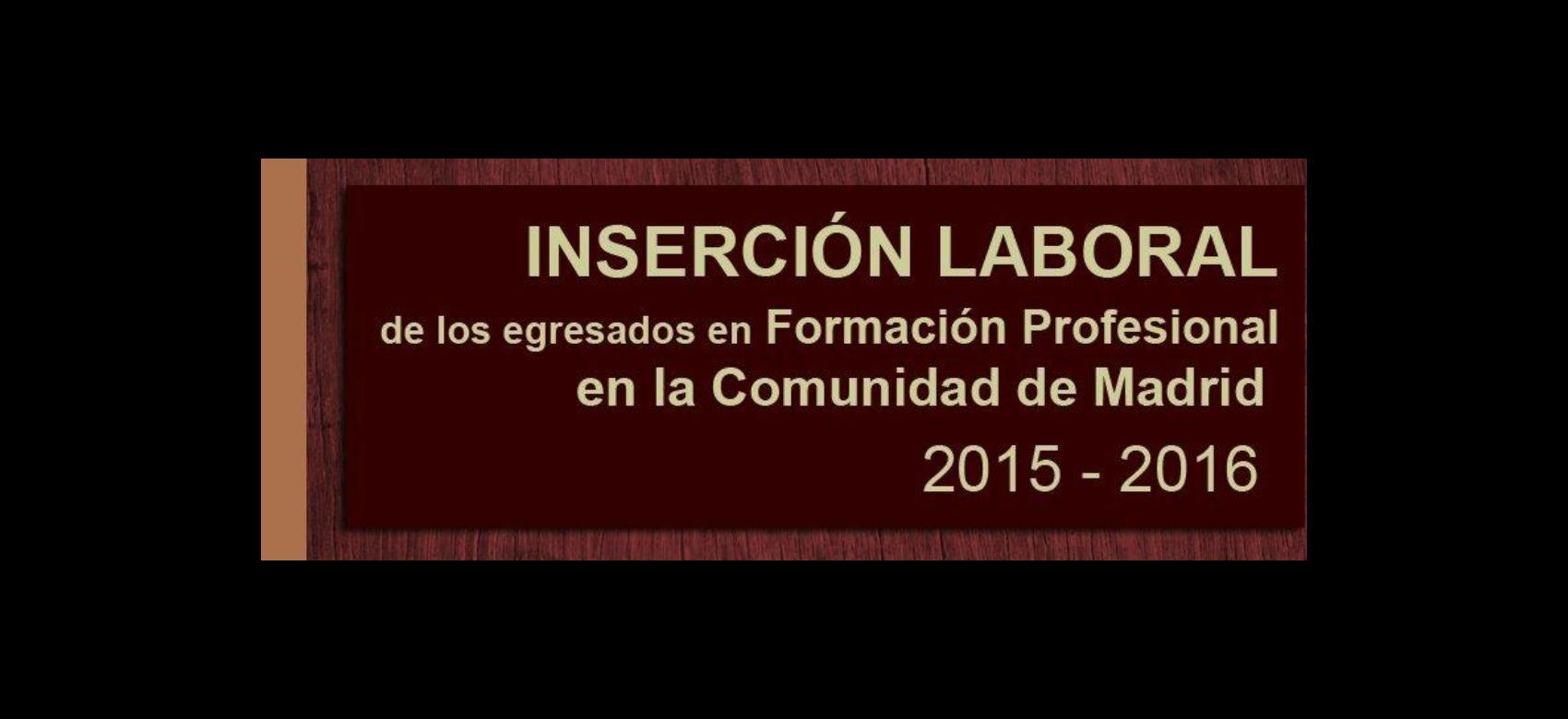 Inserción laboral egresados FP