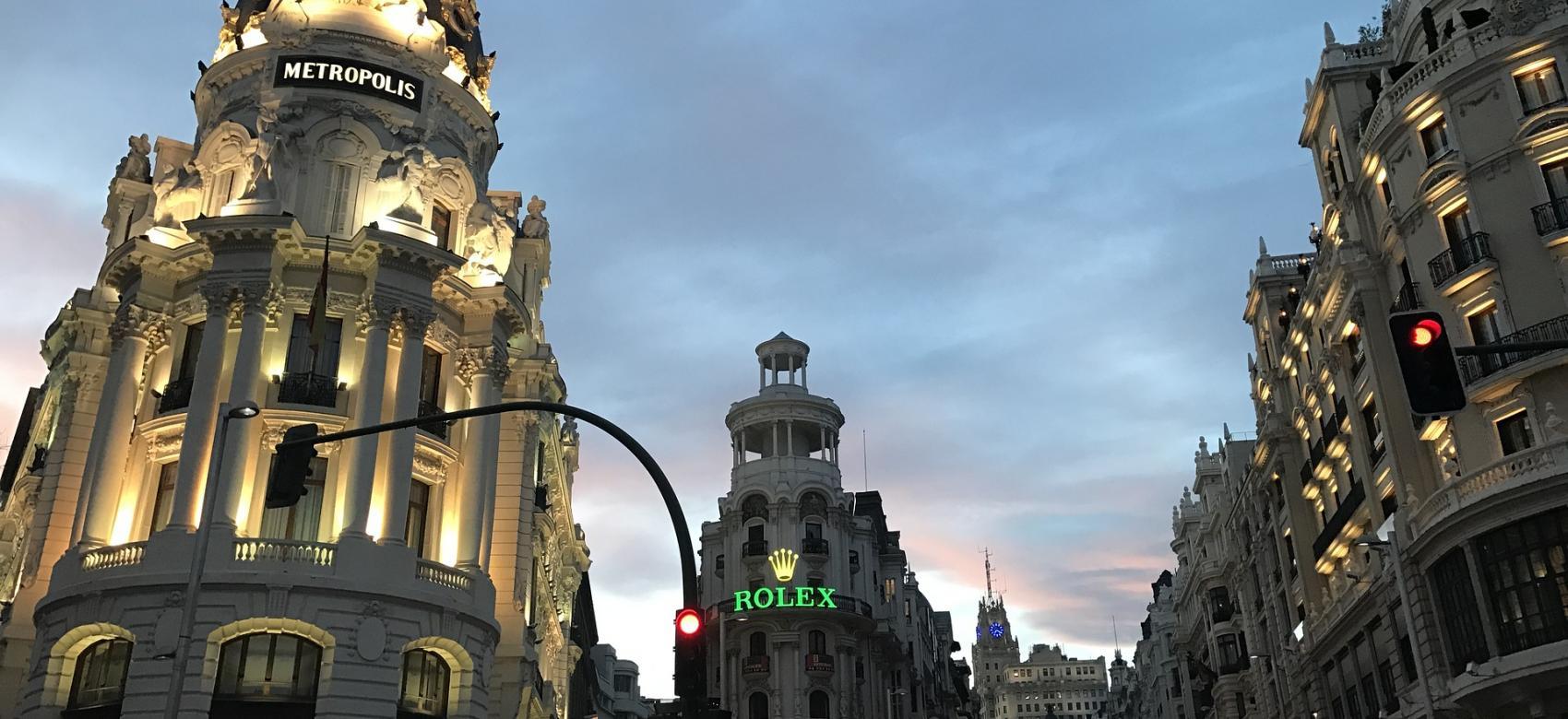 Atardecer en la calle de Alcalá
