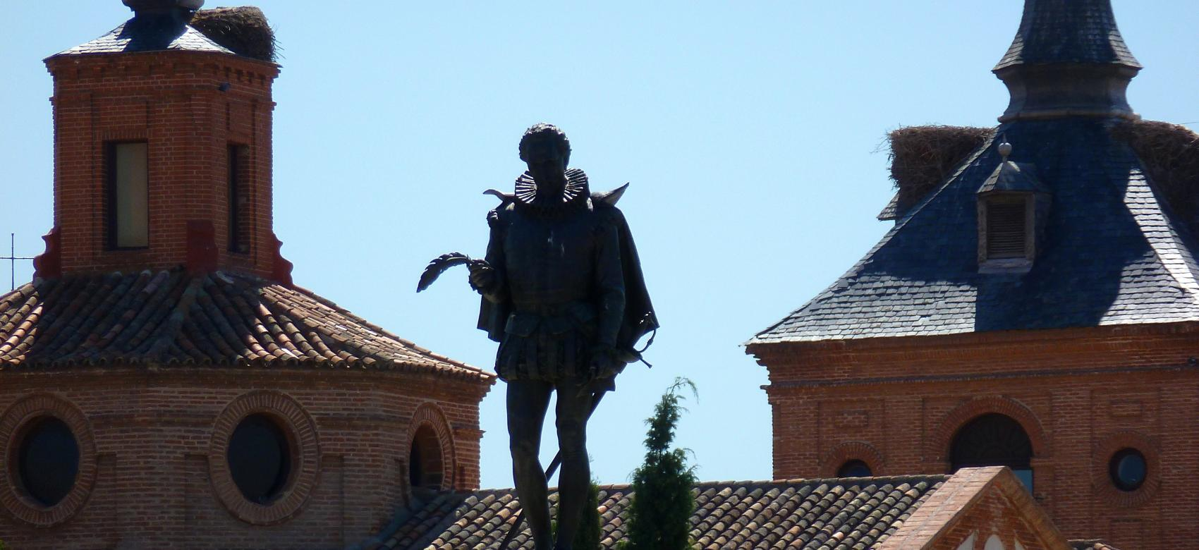 Estatua de Cervantes. Alcalá de Henares