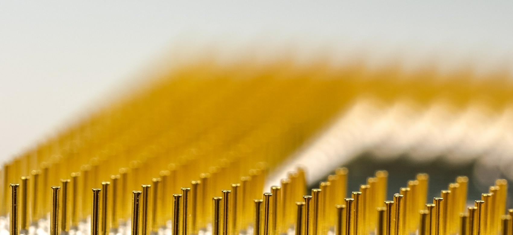 Imagen de múltiples clavos dorados