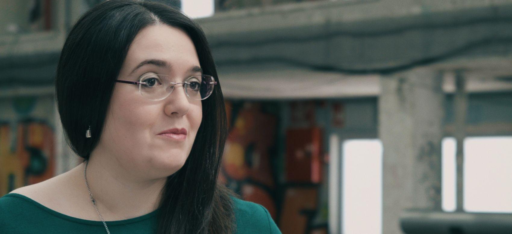 Primer plano de la donante Fátima Fernández