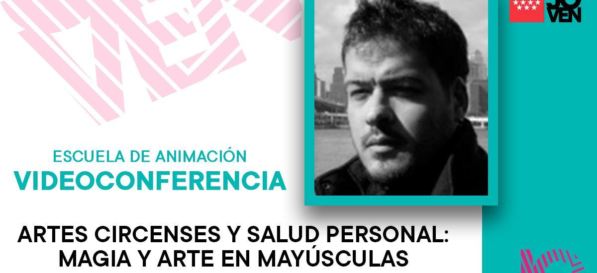 Foto de Victor García y titulo de la conferencia