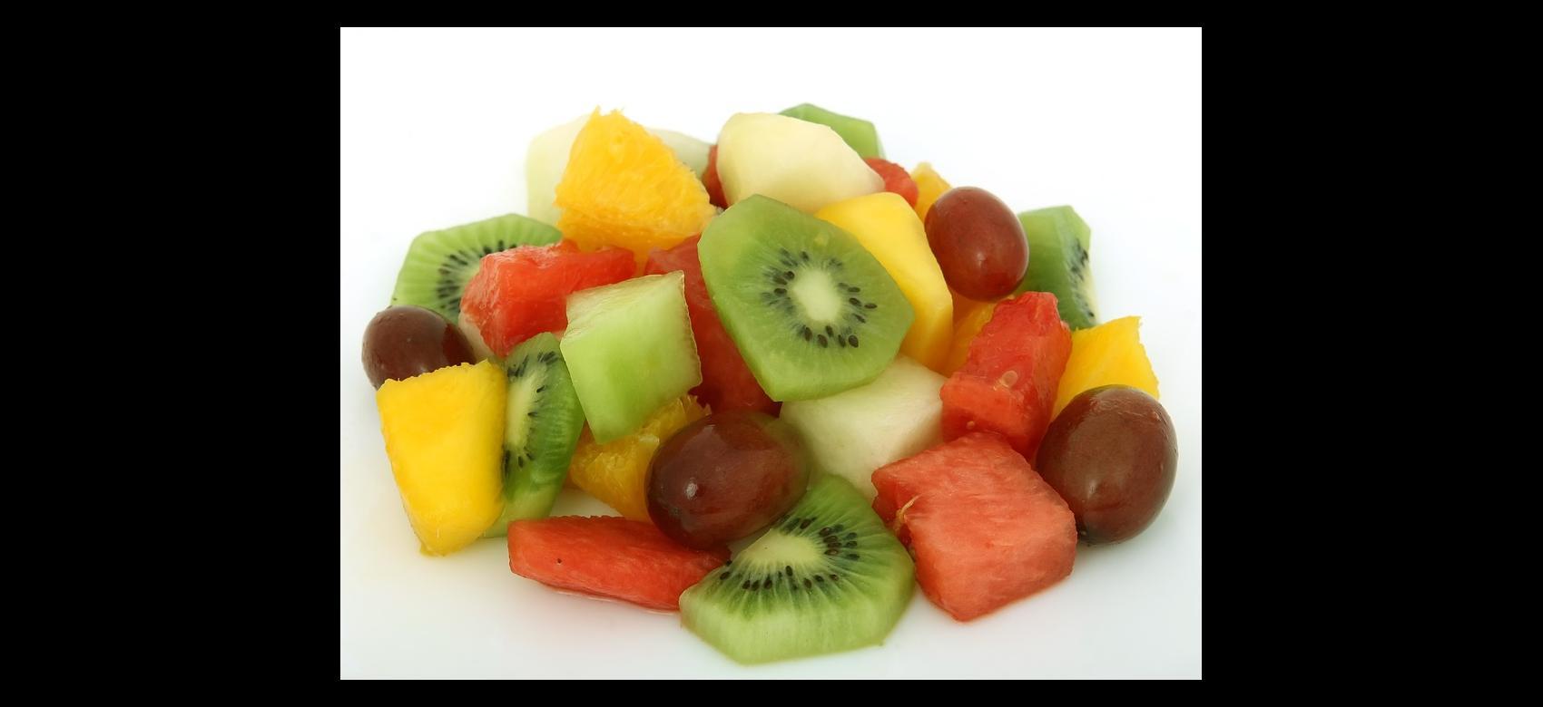 Plato de frutas variadas