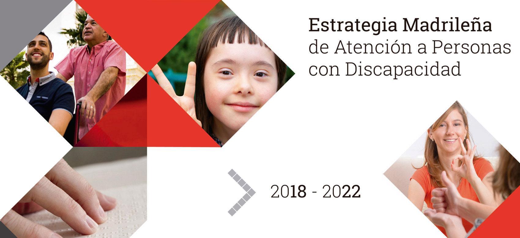 Composición a partir de la portada de la Estrategia Madrileña de Atención a Personas con Discapacidad