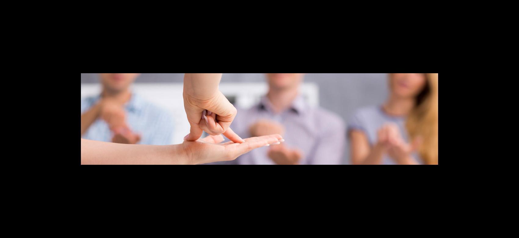 Imagen ilustrativa de manos signando