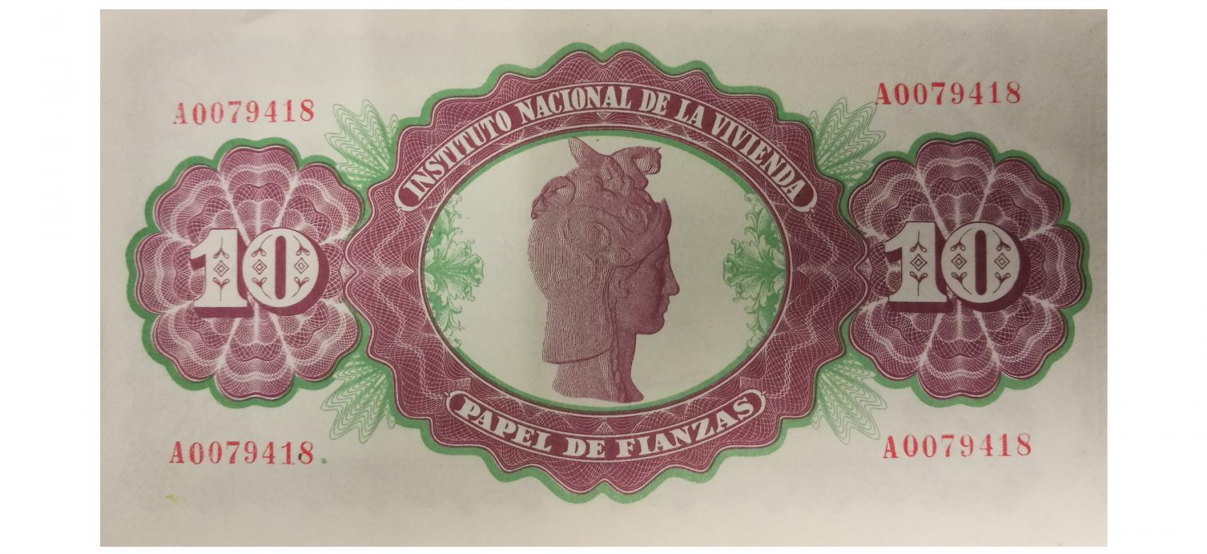 Papel de Fianzas del Estado de 10 pesetas emitidos en 1940