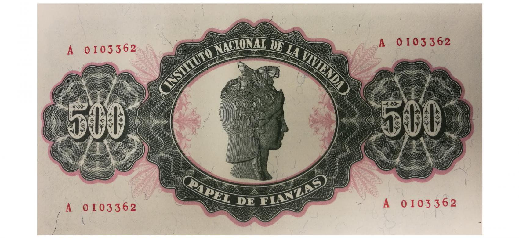 Papel de Fianzas del Estado de 500 pesetas emitidos en 1940
