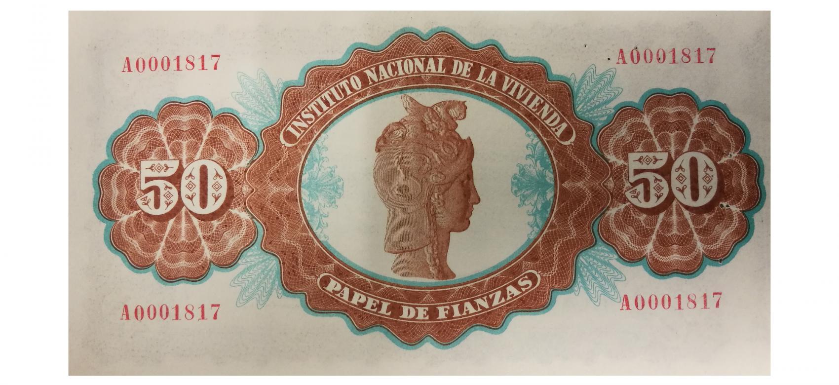 Papel de Fianzas del Estado de 50 pesetas emitidos en 1940