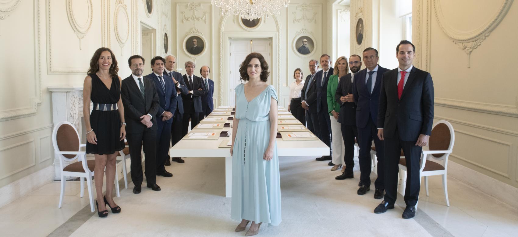 Imagen de la primera reunión del Consejo de Gobierno con Isabel Díaz Ayuso como presidenta regional
