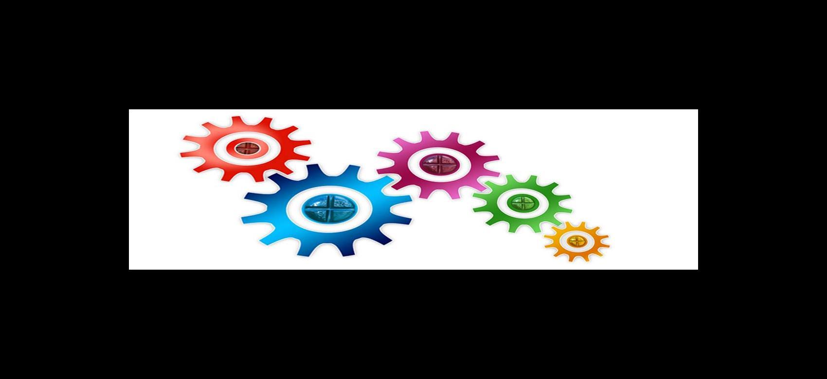 banner con engranajes en colores de la publicación Necesidades de formación en la CM 2019
