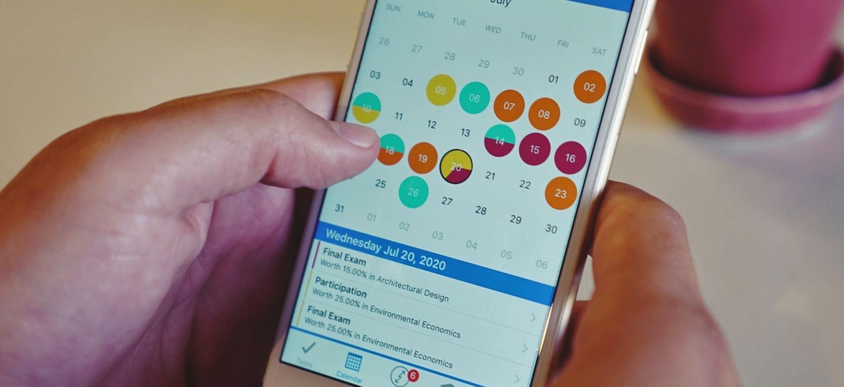Calendario en móvil