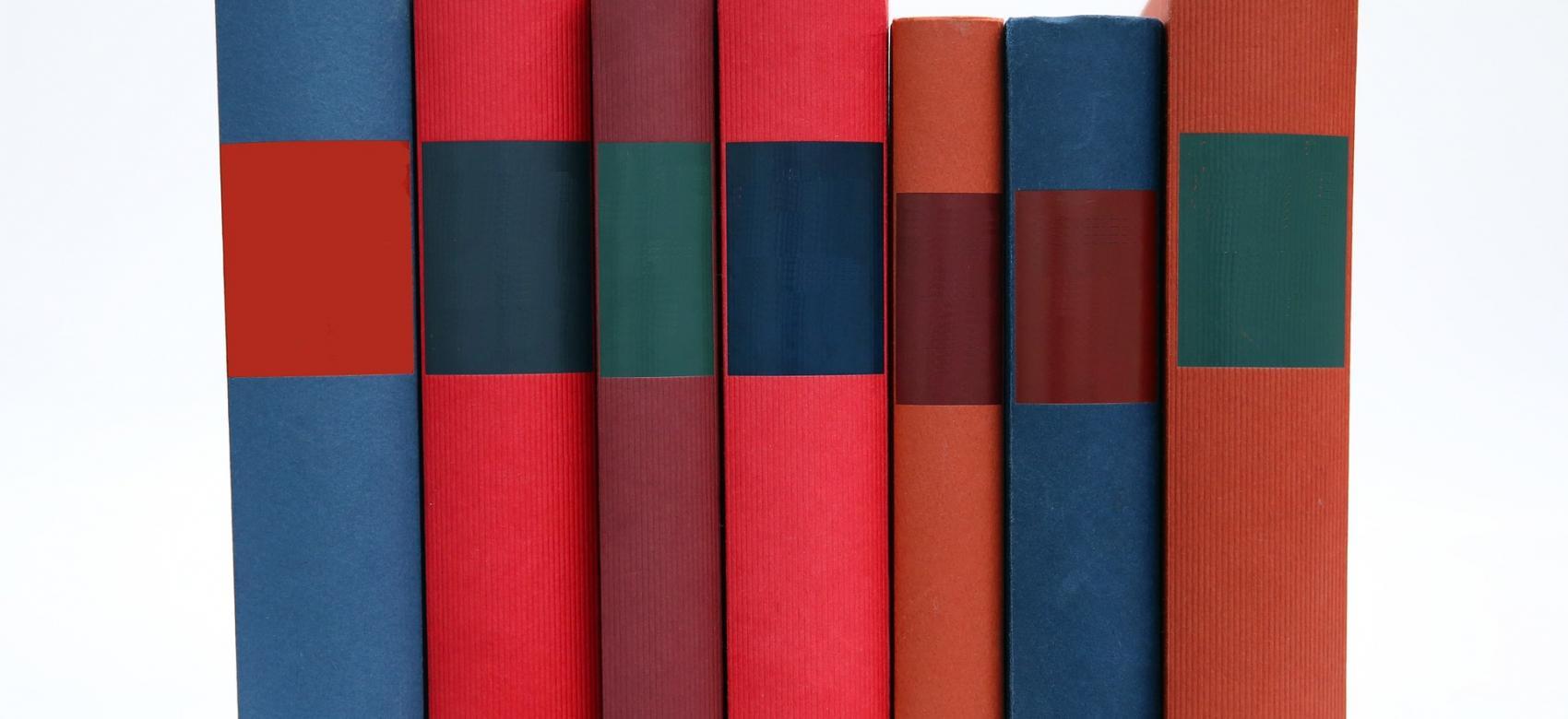 Libros en vertical