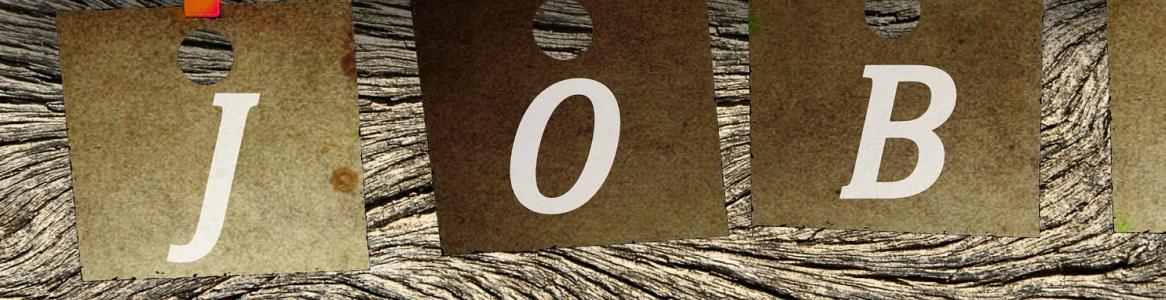 Rótulo con la palabra JOB (trabajo en inglés)