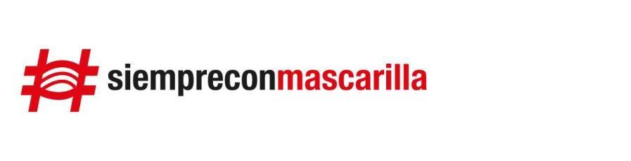 Hashtagg siempre con mascarilla