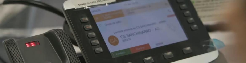 pantalla de un teléfono