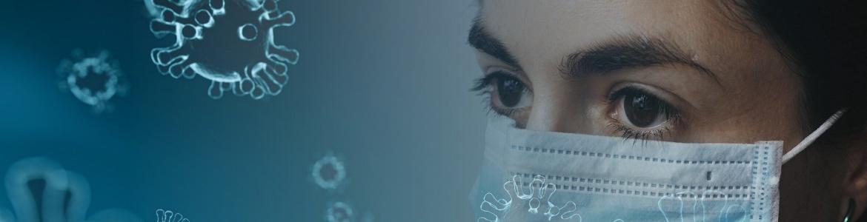 mujer mascarilla y coronavirus