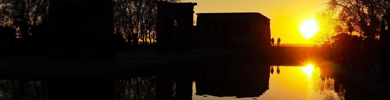 Templo de Debod de Madrid al atardecer