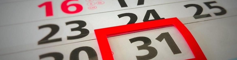Fecha marcada en calendario