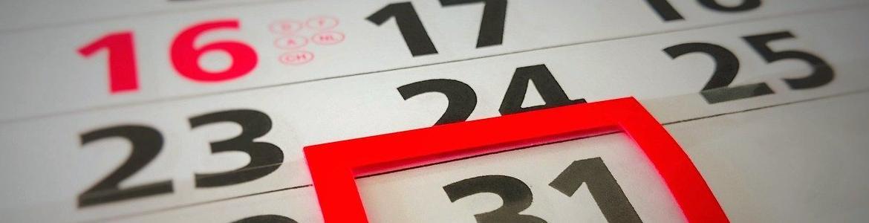 Día marcado en un calendario